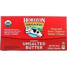 Horizon Organic Unsalted Butter Four Stick 1 Pound