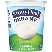 Stonyfield Farm Organic Low Fat Plain Yogurt 32 Ounce