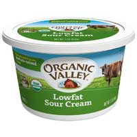Organic Valley Organic Lowfat Sour Cream 16 Ounce