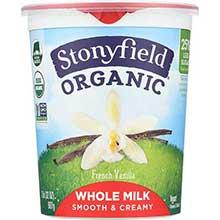 Stonyfield Farm Organic French Vanilla Cream Top Yogurt 32 Ounce