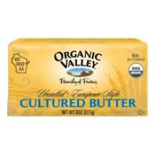 Organic Valley European Style Butter 8 Ounce