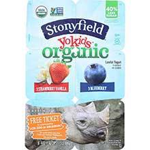Stonyfield Farm YoKid Organic Strawberry Vanilla and Raspberry Yogurt 4 Ounce