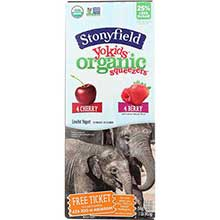 Stonyfield Farm YoKid Organic Cherry and Berry Yogurt Squeezer 2 Ounce