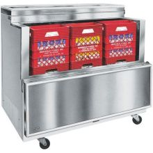 Norlake Standard Stainless Steel Open Front Milk Cooler 44 x 63 x 34 inch