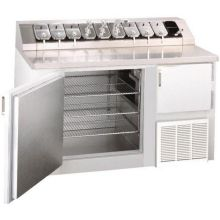 Norlake Standard Dual Rail Stainless Top Ice Cream Topping Refrigerator  Cabinet 37 3/4 X 54 X 30 7/8 In
