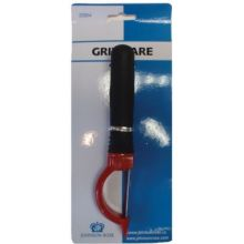 Gripware Stainless Steel Blade Swivel Peeler with Black Plastic Handle