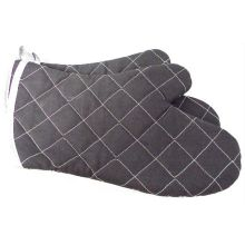 Charcoal Color Fire Retardant Fabric Oven Mitt 24 inch Length