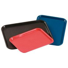 Green Textured Slip Resistant Plastic Fast Food Tray 14 x 10 inch