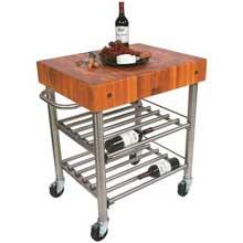 Cucina D Amico Cherry Wine Cart 30 x 24 x 5 inch