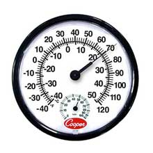 Bi Metals Wall Thermometer with Humidity Scale