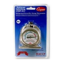 Bi Metals Twin2Pack Refrigerator Freezer Thermometer with HACCP Guideline