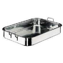 World Cuisine Paderno Stainless Steel Roasting Pan 17 3/4 inch Length