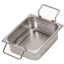 Perforated Stainless Steel Hotel Pan with Fold Handle