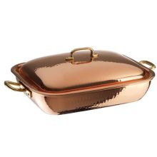 Copper Tin Roasting Pan with Lid