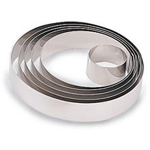 World Cuisine 398906 Stainless Steel Pastry Ring H 1 3/4 In Dia 2 3/8 In