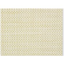 Plastic Beige and White Placemat Set