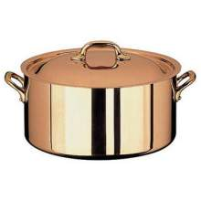 World Cuisine Paderno Copper Stew Pan 7/8 Quart