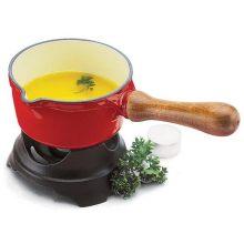 World Cuisine 10170B Enamel Cast-Iron Butter Warmer-Blue Dia 5 1/2 In
