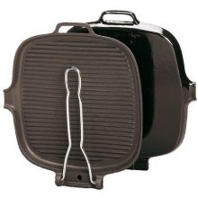 Cast Iron Square Grill with Stainless Steel Handle