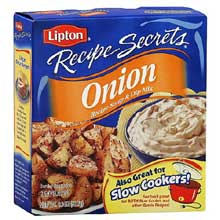 Lipton Savoury Recipe Secrets Onion Soup Mix 2 envelopes per 2 oz. box Mfg 00362L