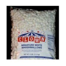Clown White Mini Marshmallows - 5 lb. poly bag