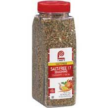 Lawrys Salt Free 17 Seasoning - 20 oz. container
