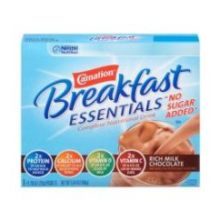 Carnation Breakfast Essentials Light Start Rich Milk Chocolate No Sugar Added Powder