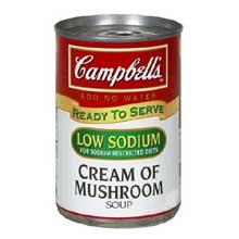 Campbells Ready To Serve Low Sodium Cream Mushroom Soup - 7.25 oz. can
