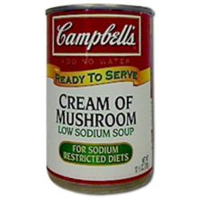 Campbells Ready To Serve Low Sodium Cream Of Mushroom Soup 10.5 Ounce