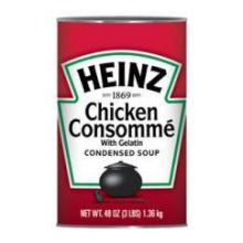 Heinz Condensed Chicken Consomme with Gelatin - 48 oz. can