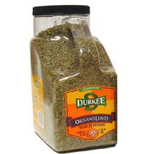 Durkee Whole Oregano Leaves - 1.5 lb. container