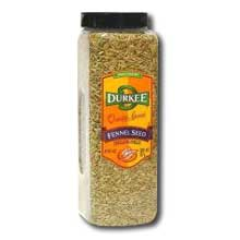 Durkee Whole Fennel Seed - 14 oz. container