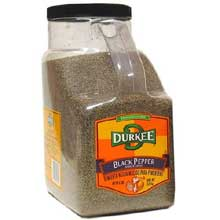 Durkee Shaker Grind Black Pepper - 5 lb. container