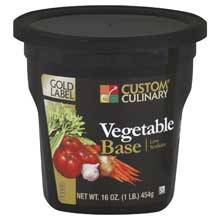 Custom Culinary Gold Label Vegetable Base 1 Pound