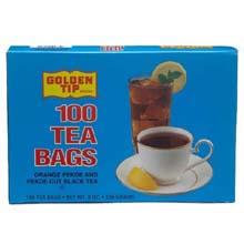 Golden Tip Tea with Tag - 100 tea bags