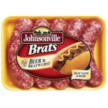 Johnsonville 4 To 1 Precooked Beer Bratwurst 5 Pound