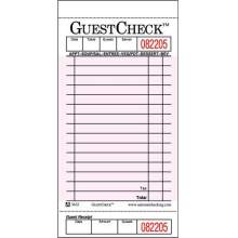 National Checking Company Guest Check Board - 1 Part Pink 15 Line 3.5 x 6.75 inch