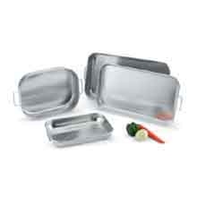 Heavy-Duty Aluminum Bake and - Roast Pans Capacity 7.1 Ltrs Gauge 14