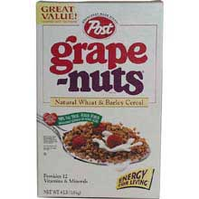 Krafts Post Cereal Jumbo Grape Nut 64 Ounce