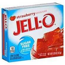 Jello Strawberry Sugar Free Gelatin .3 Ounce