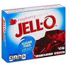 Jello Raspberry Gelatin .6 Ounce
