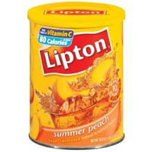 Lipton Summer Peach Iced Tea Mix - 28.3 oz. can Mfg 11975