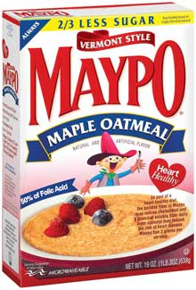 Homestate Farms Instant Maypo Vermont Style Maple Oatmeal Cereal 19 Ounce Mfg 08032