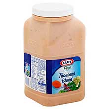 Dressing Kraft Free 1000 Island 1 Gallon