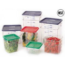Clear 11 1/4 inch. X 12 1/4 inch. X 12 5/8 inch. Camsquare Food Storage Containers Cleach.R 18 Quart