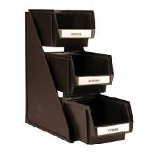 3 Tier Stand Brown 3 Bins 8