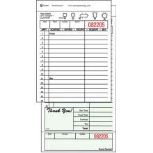 National Checking Company Carbon Backed Guest Check Board - 2 Part Green 16 Line