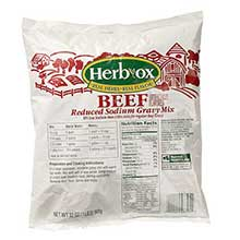 Herb Ox Reduced Sodium Beef Gravy Mix