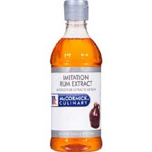 McCormick Imitation Rum Extract - 1 pint bottle