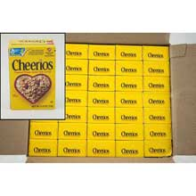 General Mills Cheerios Cereal 0.63 Ounce Single Pack - Toasted Whole Grain Oat Cerel